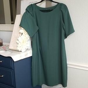 Ann Taylor Green Dress Sz 12P